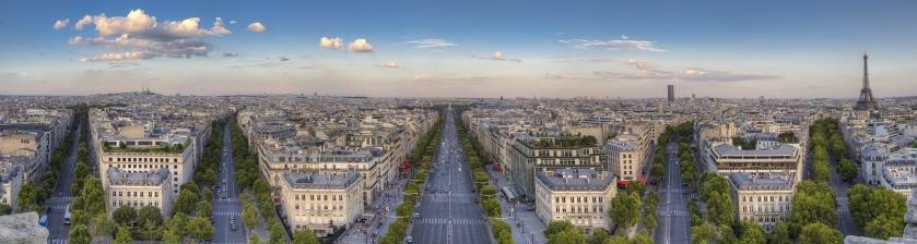 Panorama of Paris, in color