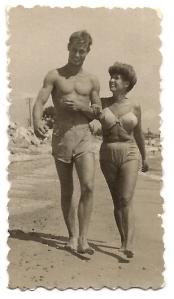 Pitou with his mother Ghislaine de la Salle