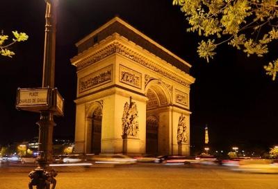 Arc at night