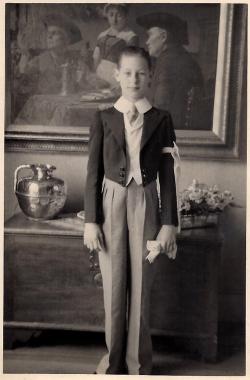 Pitou de la Salle, as a young boy