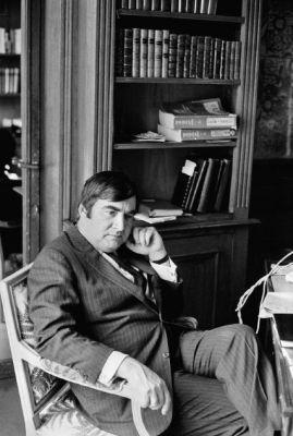 Pierre Salinger in study, France