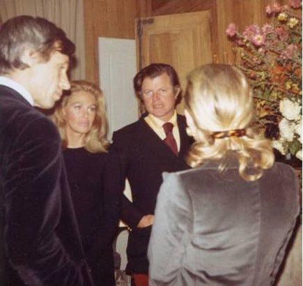 Pierre de la Salle with Ted and Joan Kennedy