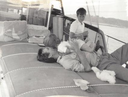 Pierre de la Salle with baby Lucinda Howard and Geoff Paulmier