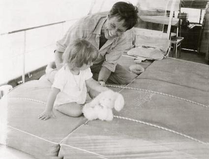 Pierre de la Salle with baby Lucinda Howard