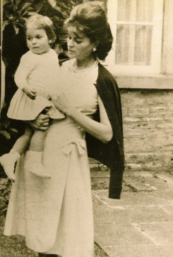Sandra, Countess of Suffolk, with daughter Lucinda Howard