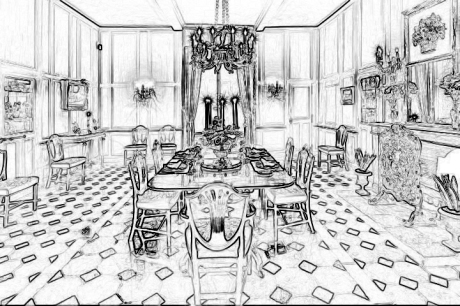 Drouilly diningsketch
