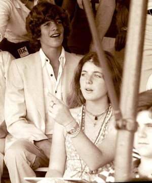 John with Caroline, at 12