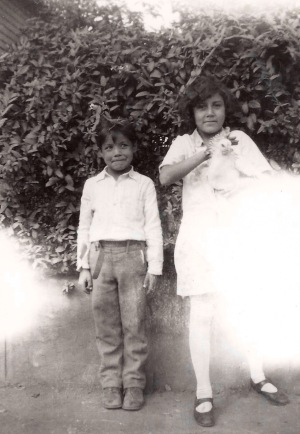 Uncle Oscar, with my Mom (1929)
